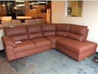 Brand new tan corner sofa