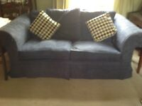 Blue sofa/double sofa bed in excellent condition