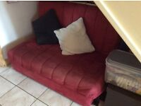 Sofa bed for sale. Cover detaches and pulls out to a double bed.