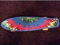 Bored Neon X Tie Dye skateboard