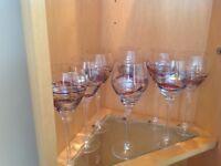 Lucka coloured glass set of 10 wine glasses