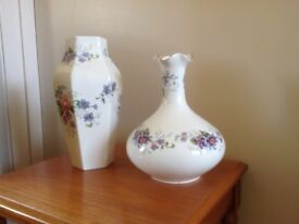 Staffordshire Fine Bone China vases