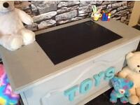 Toy Box hand painted shabby chic