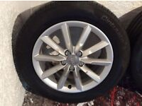 AUDI ALLOYS GENUINE AUDI ALLOYS ALSO FITS VOLKSWAGEN SKODA SEAT ALHAMBRA TRANSPORTER