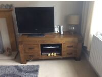 SOLID WOOD TV UNIT / CABINET