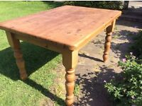 Pine antique effect table