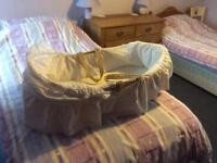 Moses basket with stand (not pictured)