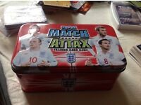 Match Attax tin with cards 200 plus