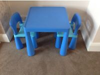 Excellent Childrens building block Play Table and Chairs