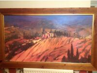 oil on canvas picture 'last view of tuscany'