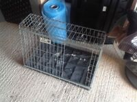 Small metal collapsible dog cage