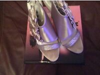 Size 4 champagne colour heels