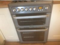 Hotpoint HAE60KS double oven and ceramic hob 60 cm