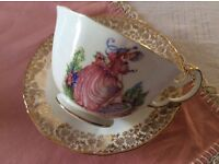 """Imperial """"Pinkie"""" Bone China Cup and Saucer."""