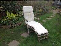 "WOODEN GARDEN ""Steamer""RECLINING CHAIR"