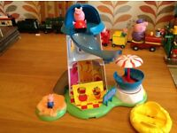 Peppa pig helter-skelter with Peppa and George