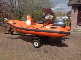 Humber Rigid Inflatable Boat (RIB) with 30 hp Yamaha outboard