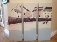 John Lewis 3 piece canvas.