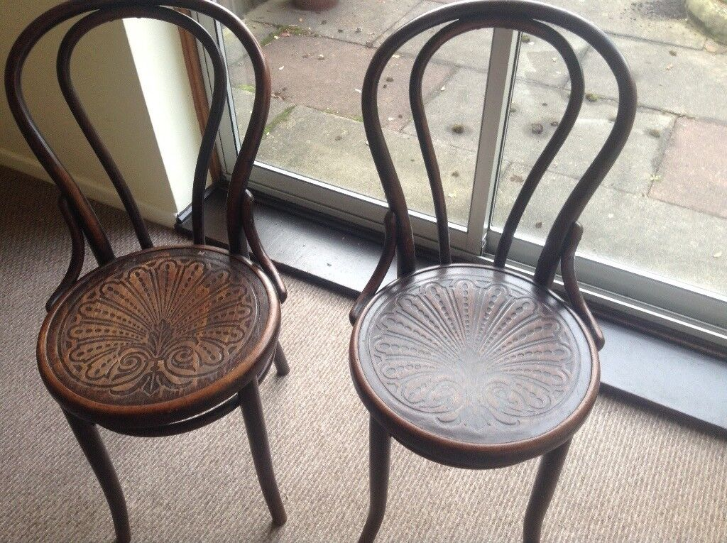 X 2 bentwood chairs