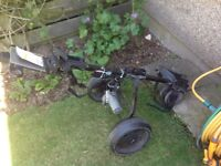 Full set of Golf clubs and electric golf trolley with 3 batteries and charger