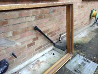 Solid OAK heavy door frame - excellent condition - exterior door