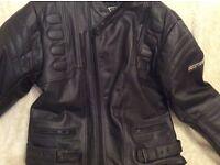 Rayven leather motorcycle jacket(46 chest