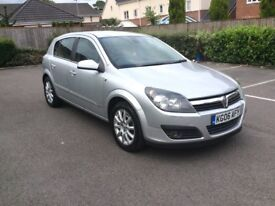 2006 Vauxhall Astra Design 1.6 Petrol 5 Drs 76000 Miles Silver Colour Full ServiceHistory Mot 6Month