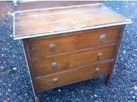 Antique 3 drawer chest