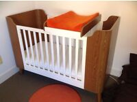 Mothercare novo cot bed and toddler bed