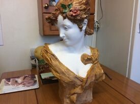 Plaster Bust by A Foretay