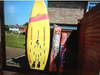 Phoenix 320 windsurfing board with sails mast and bag little used