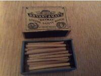 Original Box of Bryant & May Matches