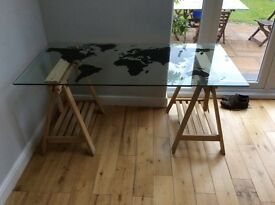 Glass table ideal for work/study