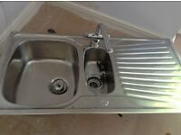 Stainless steel sink and worktop