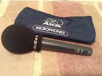 Broadcast handheld vocal microphone AKG D230 + windshield + XLR cable