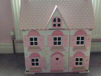 ELC dolls house, figures & furniture