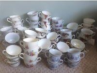 Teacups, vintage china, wedding, job lot