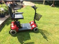 Mobility scooter, folds to fit in boot, Pro Rider Elite, hardly used
