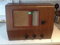 Collectable, vintage MUPRPHY A34 VALVE RADIO 1937