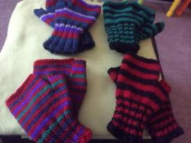 Fingerless mitts handmade by my self,