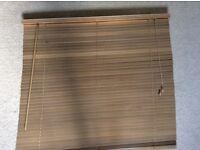 Brown Venetian blinds