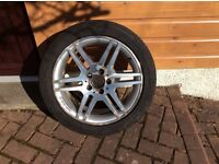 Mercedes C Class 4 X AMG line wheels and Continental Continue Sport Contact Tyres.