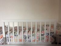 Toddler bed guard white wooden