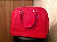 Red, Quality, Patent Bag