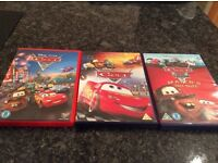 3 x Disney Cars DVDs