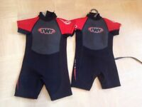 Wetsuits Age 2-3 & 3-4 Yrs