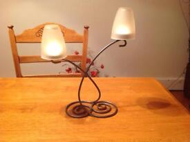 T-light holder with glass shades