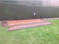 8 @ 12 foot long 8 X 2 inches deep wooden gazebo rafters in good condition price only £80 .00 quick