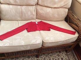 Monsoon girls red cardigan age 9-10 years