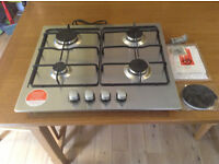 iberna stainless steel gas hob brand new never used